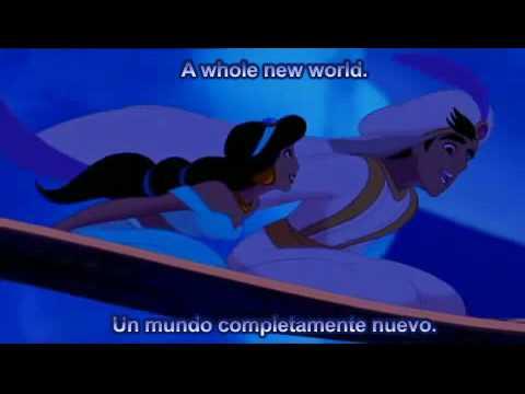 Aladdin - A Whole New World - Español - HQ Subtitled Songs Lyrics Letra - Disney Music