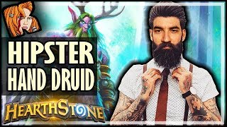 BE HIPSTER WITH HAND DRUID! - Rise of Shadows Hearthstone thumbnail