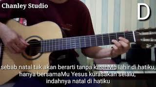 belajar gitar - natal di hatiku