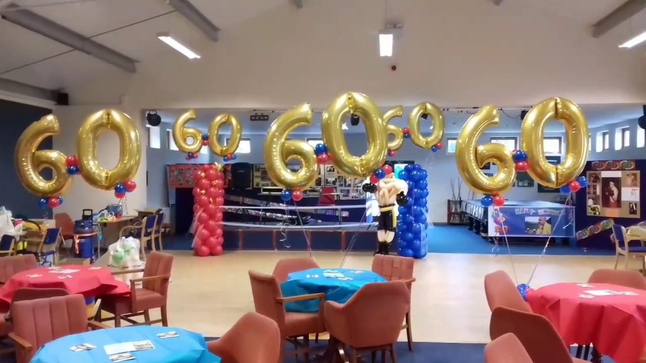 Boxing Theme Birthday Balloon Decoration By Artworks Ripley Derbyshire