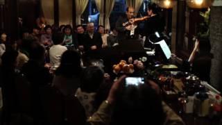 Cello&Pianica:山本純 Piano:玉野井美都子 Violin&Percussion佐藤実治.