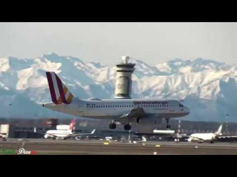 MALPENSA INT.AIRPORT AIRCRAFT IN LANDING 29/12/2017