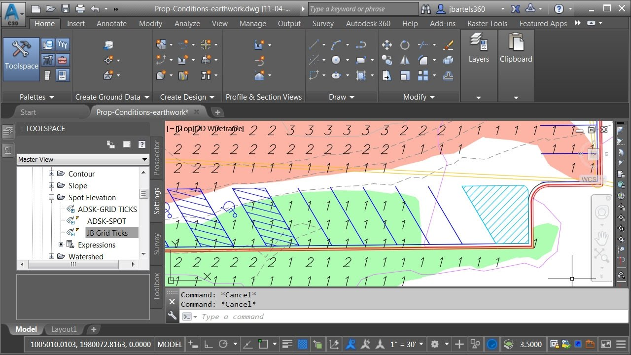 3d Exhibition Software : Using civil d to create a cut fill earthwork exhibit