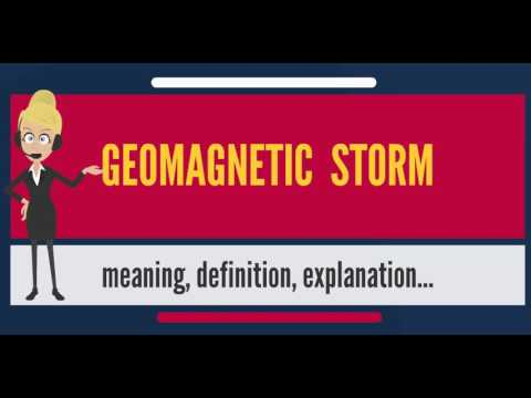What is GEOMAGNETIC STORM? What does GEOMAGNETIC STORM mean? GEOMAGNETIC STORM meaning