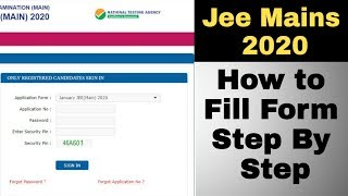 How to fill jee mains 2020 application form Step by step | Jee mains 2020 Registration begins