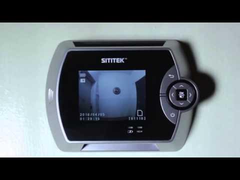 Видеоглазки дверные с датчиком движения и записью купить в
