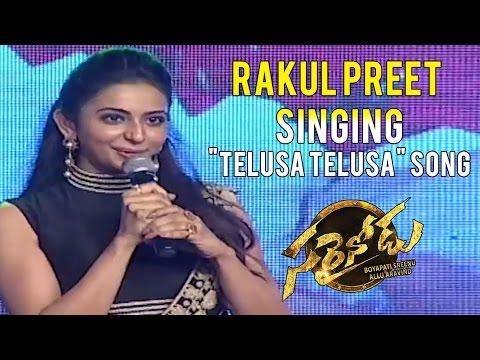 Rakul Preet Singing