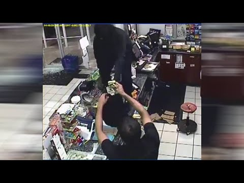 Shell gas station robbery surveillance video