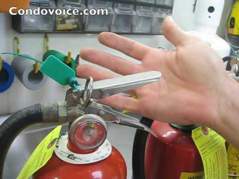Fire Extinguisher recharging on site at condo & HOA