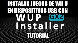 Instalación de juegos Wii U con WUP Installer