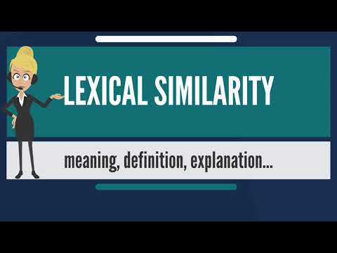 What is LEXICAL SIMILARITY? What does LEXICAL SIMILARITY mean? LEXICAL SIMILARITY meaning