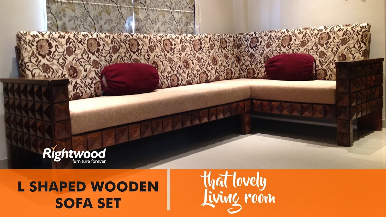 SOFA SET DESIGNS L SHAPED WOODEN NEW DESIGN DIAMOND BY RIGHTWOOD FURNITURE