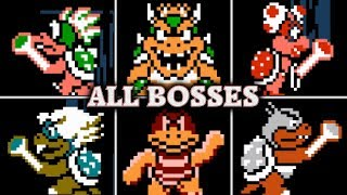 Super Mario Bros. 3 - All Boss Fights & Ending (No Damage)