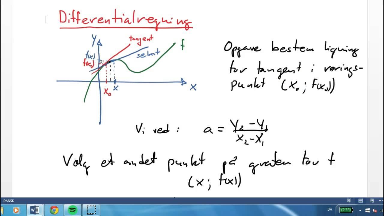 Differentialregning - intro Ma stx
