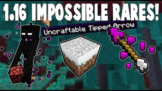 9 New IMPOSSIBLE Rares for 1.16 Minecraft