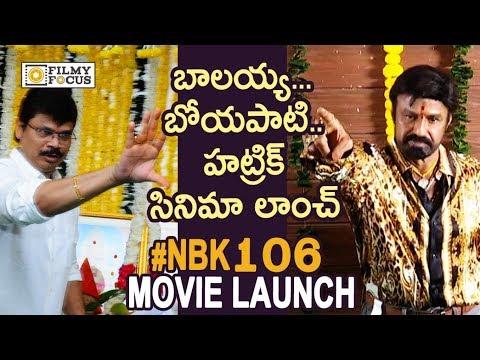 Balakrishna And Boyapati Srinu New Movie Launch || NBK 106 Movie Launch - Filmyfocus.com