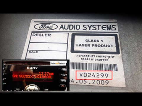 ford focus radio code serial number