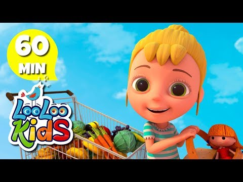 Going to the Market 🛒 Educational Songs for Children | LooLoo Kids
