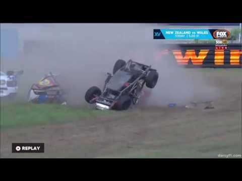 Aussie Racing Cars 2016. Race 2 Darwin. David Sultana Huge Crash