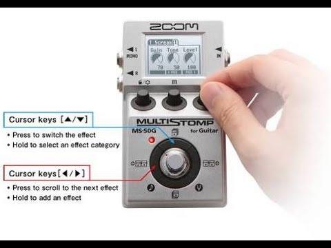 pedal zoom ms 50g multistomp ms 50 for guitar youtube. Black Bedroom Furniture Sets. Home Design Ideas