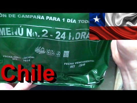 Thumbnail: MRE Review - 24hr Chile Military Combat Ration - Menu 2