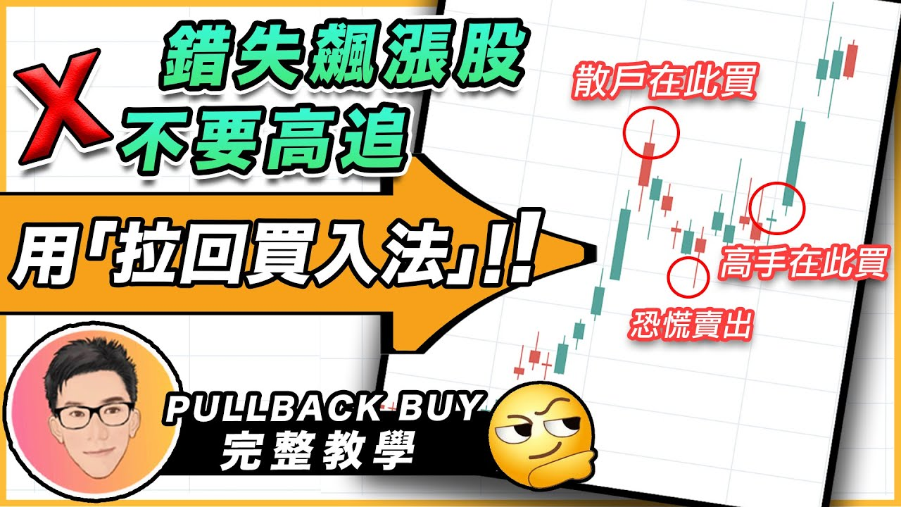 錯失飆漲股不要高追!用拉回買入法 Pullback Buy 完整股票教學 股票入門 投資理財 超績投資客 J Law