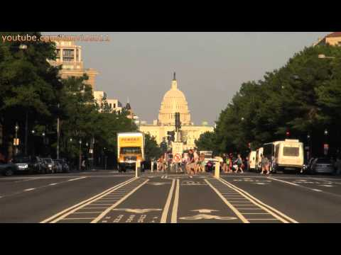 People Crossing the Street With Capital Building, Washington DC - youtube.com/tanvideo11