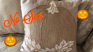 Fall No Sew Pumpkin Pillow Diy 2019