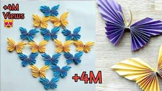 কাগজের তৈরি জিনিস | কাগজের  প্রজাপতি | হাতের তৈরি জিনিস | Paper Butterfly | কাগজ দিয়ে জিনিস বানানো.