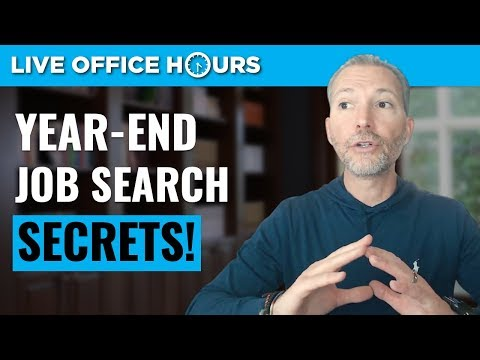 Year-End Job Search Secrets + 14 Day Challenge: Live Office Hours with Andrew LaCivita