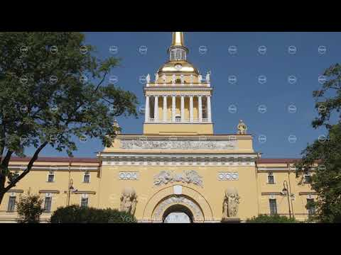 ST PETERSBURG, RUSSIA: Panoramic view of the Admiralty building in the summer