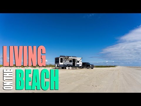 Free Beach Camping / Living in an RV - Sea Center Texas & Ferris Wheel Fear - Full Time RV Living