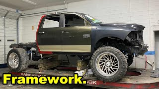 Fixing the Frame On MY Destroyed 2018 Dodge Ram 2500