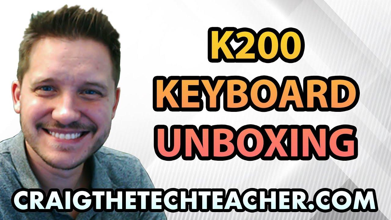 Logitech K200 Black USB Wired Standard Keyboard Unboxing