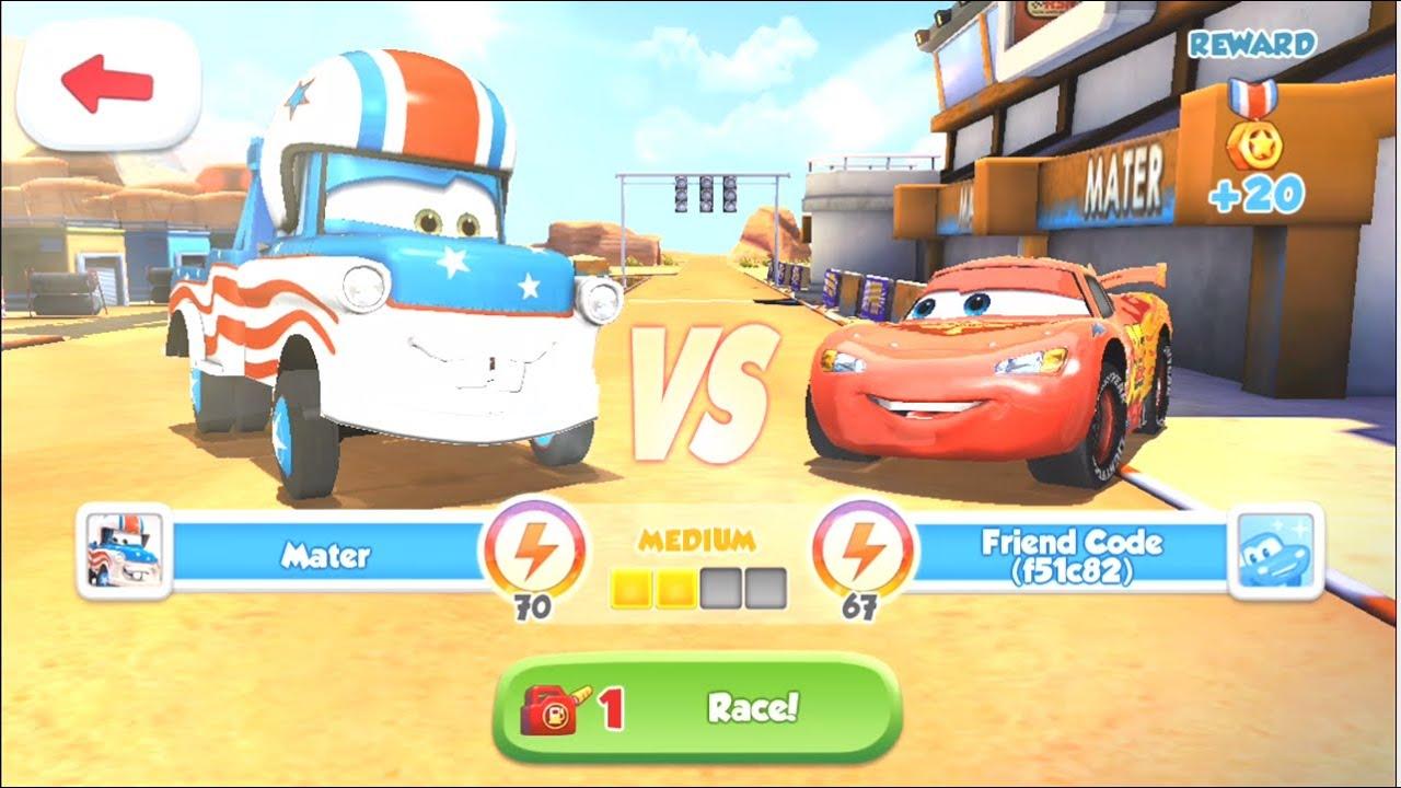 disney pixar cars fast as lighting lightning mcqueen vs mater