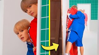 BTS being cute and funny on behind the scene