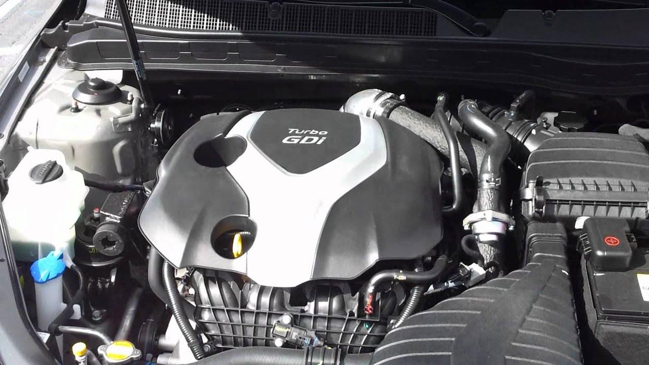 2017 Kia Optima Sx 2 0l Turbo Gdi I4 Engine Admiring Motor After Test Drive
