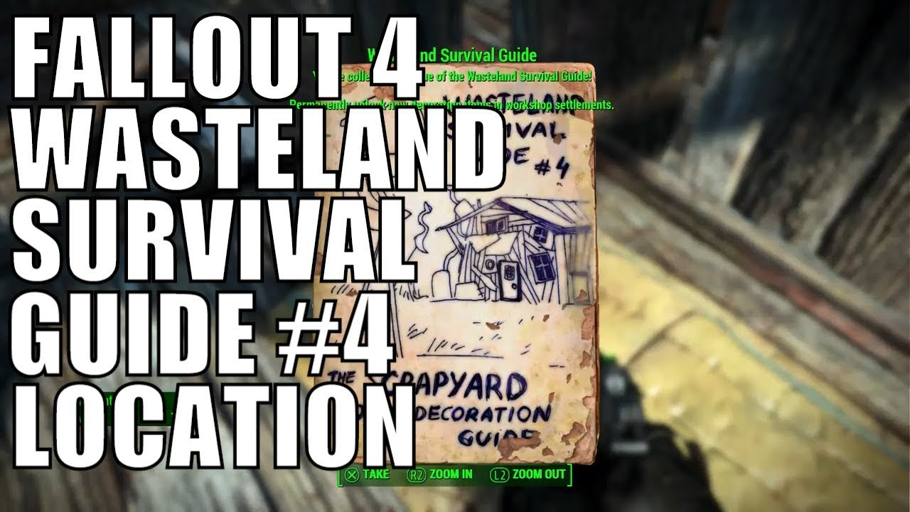 Good Fallout 4 Wasteland Survival Guide Magazine The Scrapyard Home Decoration  Guide Issue #4 Location