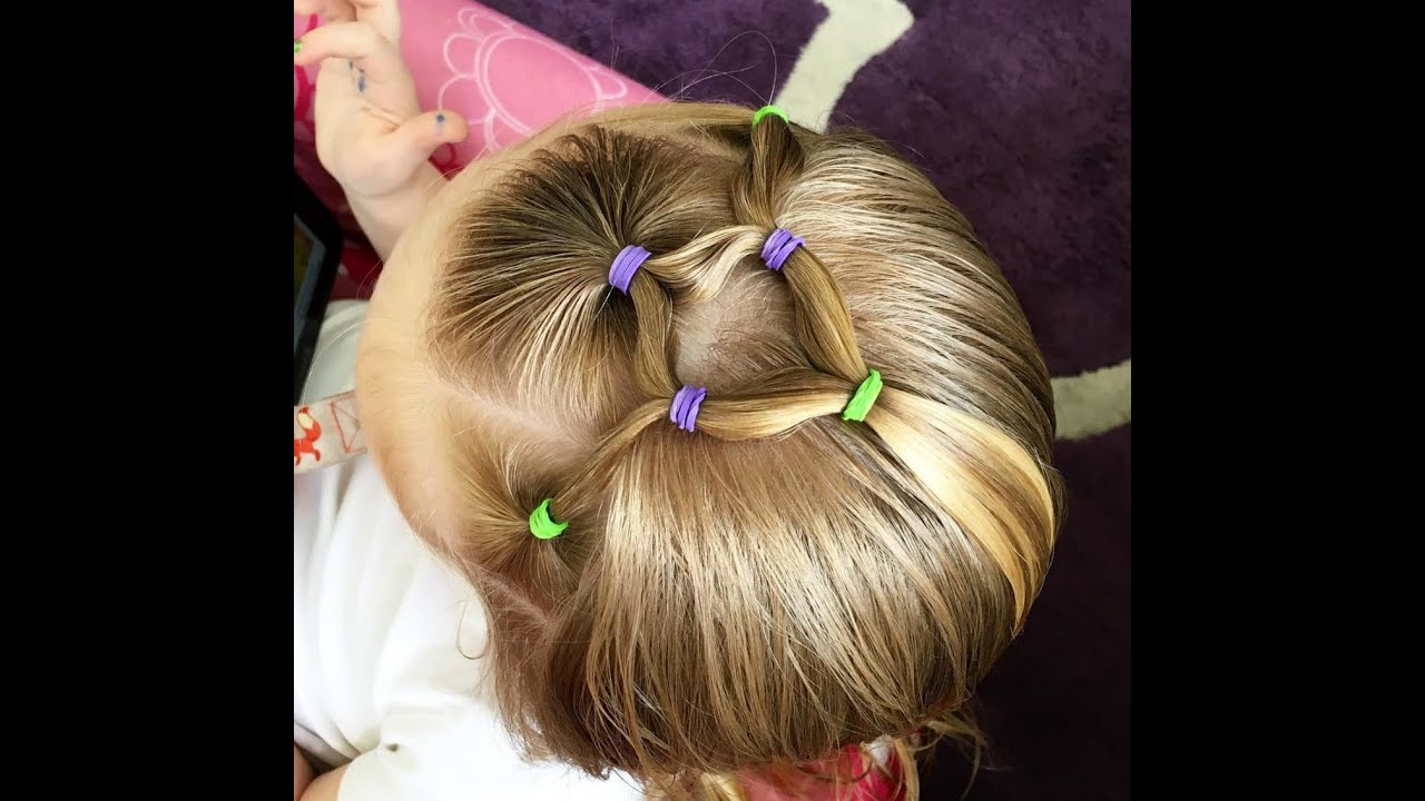 Easy Toddler Elastic Hairstyle Youtube
