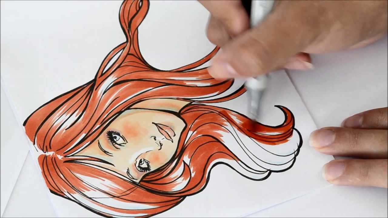 How To Color Little Mermaid With Copics YouTube