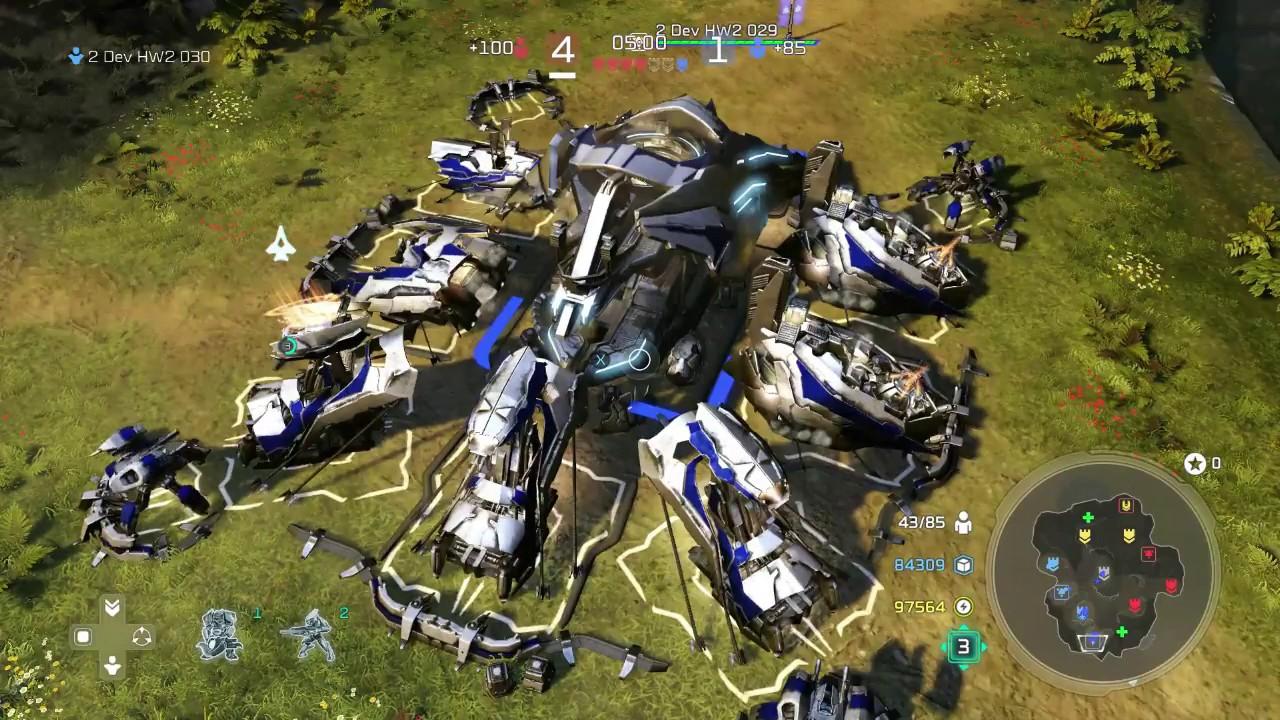 Halo Wars 2 multiplayer 2 on 2 battle