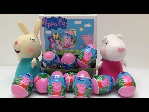 Peppa Pig Surprise Eggs Peppa Pig Huevos Sorpresa Überraschung Eier Toy Videos