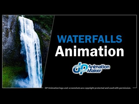 Waterfalls Animation in DP Animation Maker