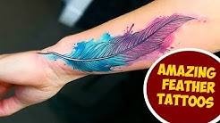 Amazing Feather Tattoos You Need To See