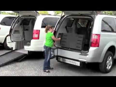 Wheel Chair Vans with easy Ramp and Rear Door Entry.