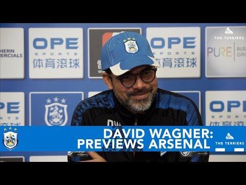 WATCH: David Wagner previews Arsenal