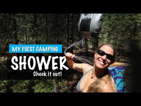 Camping Shower For My Summer Home - Outdoor Shower - Woman Making Shower Area- Season 2 -Ep#59