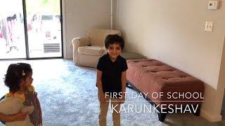 First Day of School | Karunkeshav | Son of Lal Govinda Das | Enjoy With Children | Florida USA |