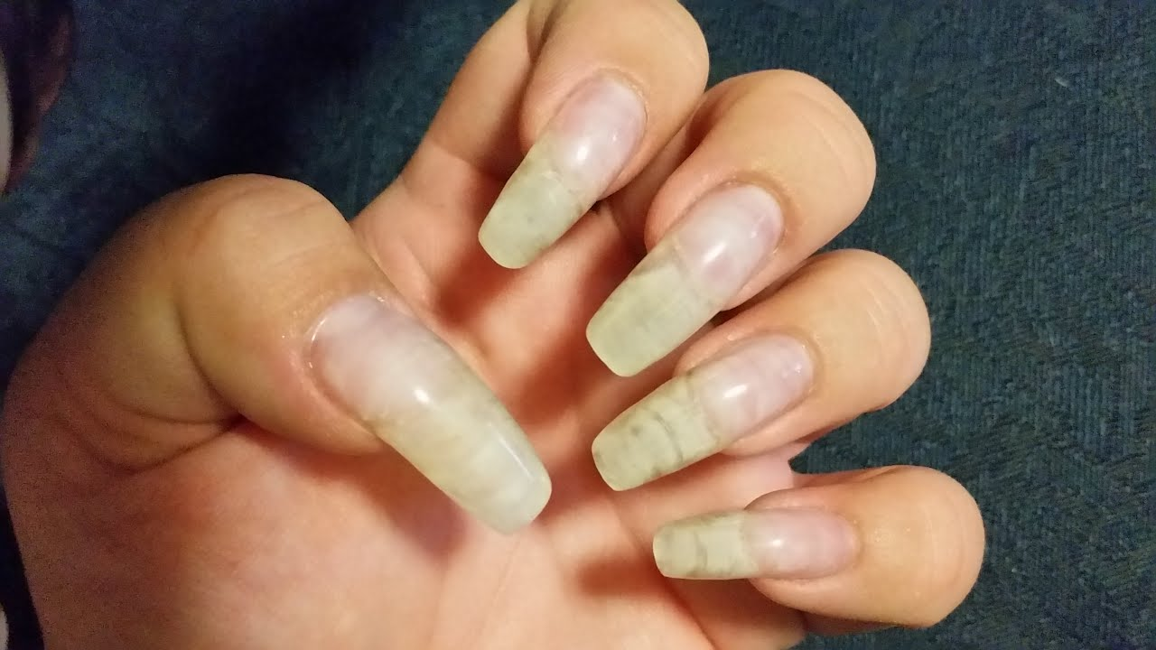 How I apply Gel on my natural nails - YouTube