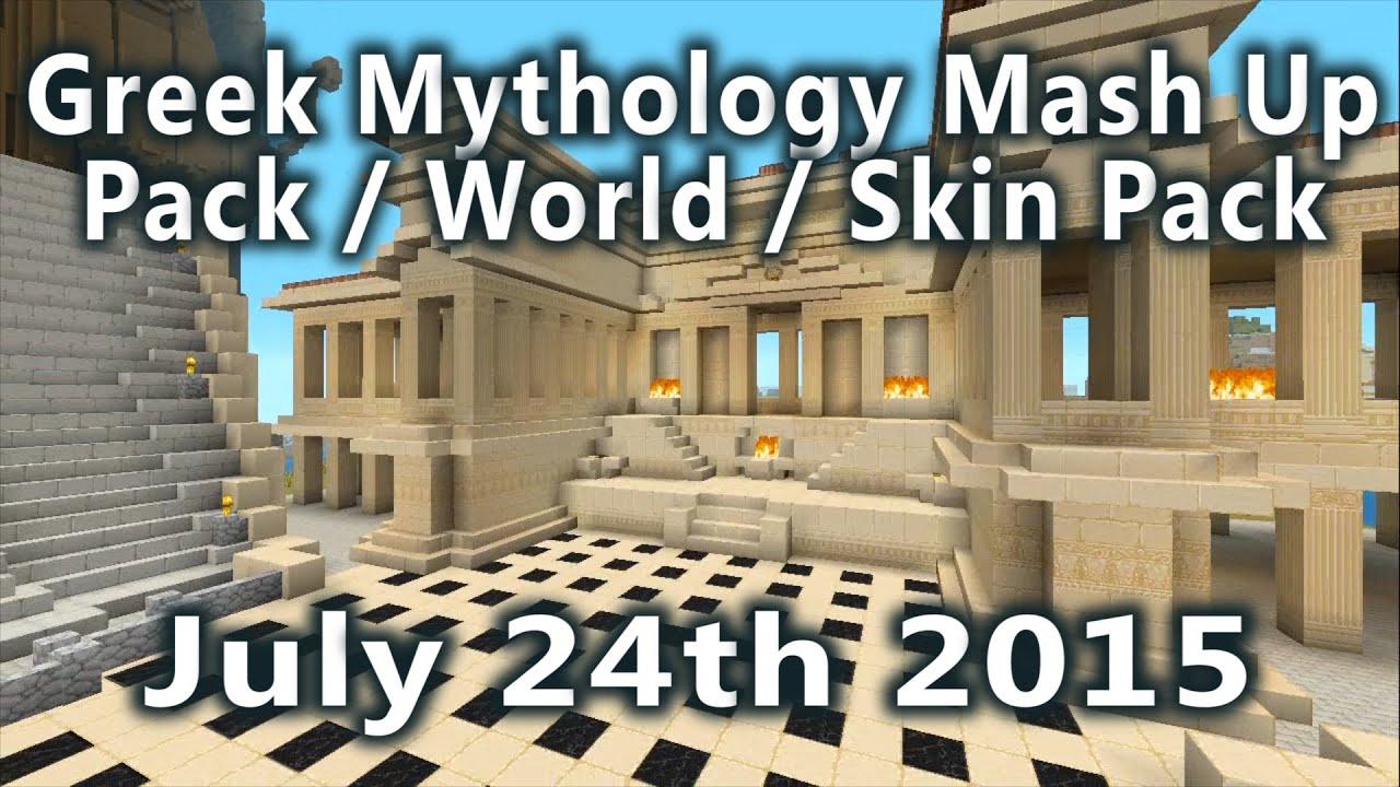 minecraft greek mythology mash up pack world skin pack